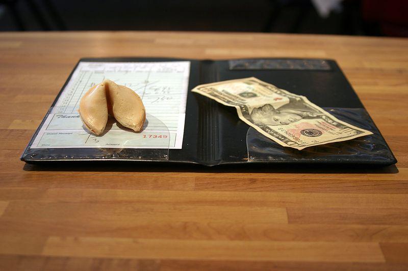 Chinese Restaurant Bill